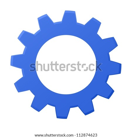 Rendered gears isolated against a white background