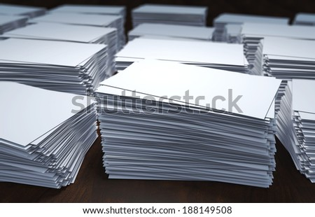 rendered illustration of white blank business cards