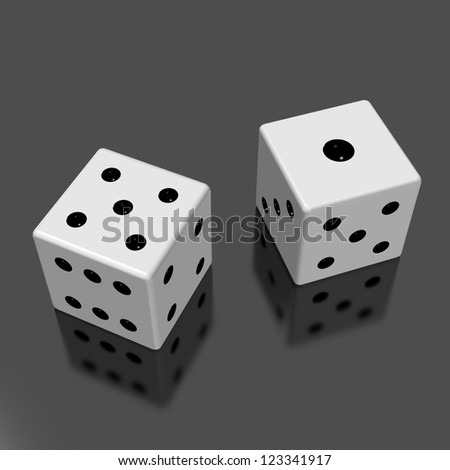 Rendered image of the two dice