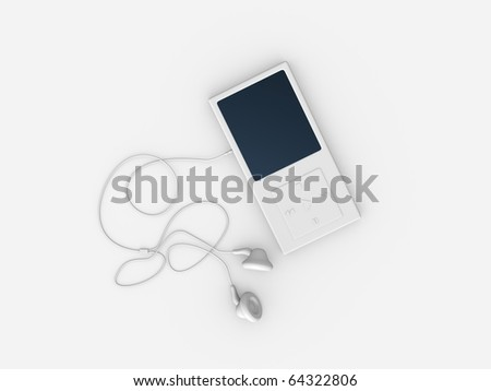 rendered, isolated object / Mp3 Player - stock photo