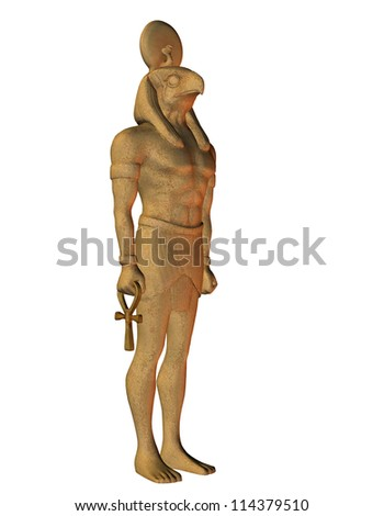 Rendering Horus from Egyptian mythology - stock photo