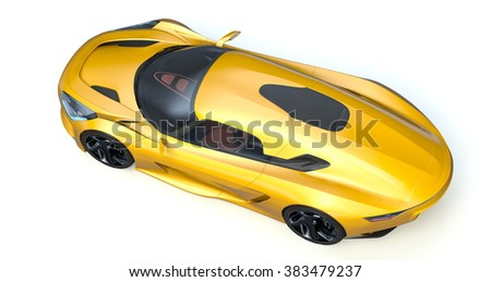 Rendering of a brand-less generic concept racing car in studio environment. No trademark issues as the car is my own design. The car does not exist in real life