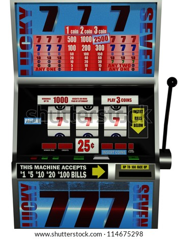 rendering of a slot machine
