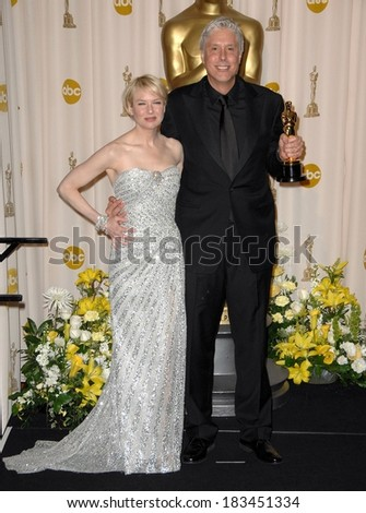Renee Zellweger Christopher Rouse, winner, Achievement in Film Editing, BOURNE ULTIMATUM, 80th Annual Academy Awards Oscars Ceremony, The Kodak Theatre, Los Angeles, February 24, 2008