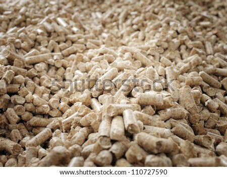 Renewable biofuel: wooden pellets made from wood waste. - stock photo