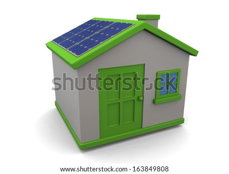 Renewable Energies - 3D - stock photo