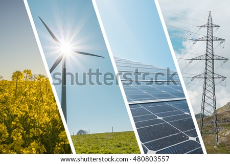 Renewable energy collage