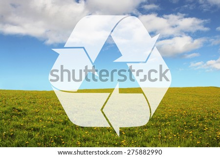 Renewable Energy. Recycling on Bright Background