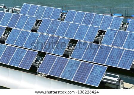 Renewable Energy Solar cells - stock photo