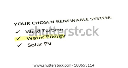 Renewable energy systems - Water - stock photo