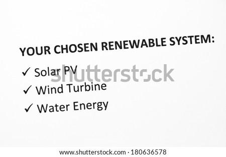 Renewable energy - Your choice - stock photo