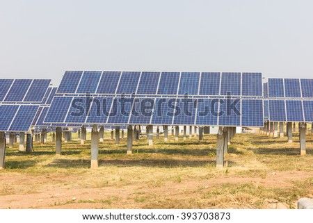 renewable solar energy Power plant : The concept of renewable energy. Clean energy Environmentally friendly The solar farm.