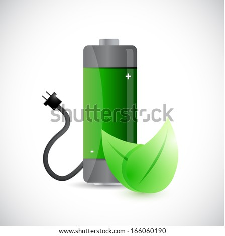 renewal energy concept illustration design over a white background - stock photo