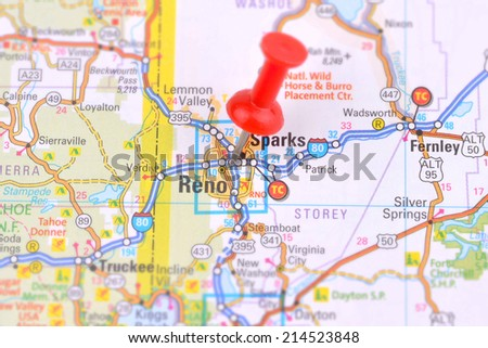 Reno and Map - stock photo