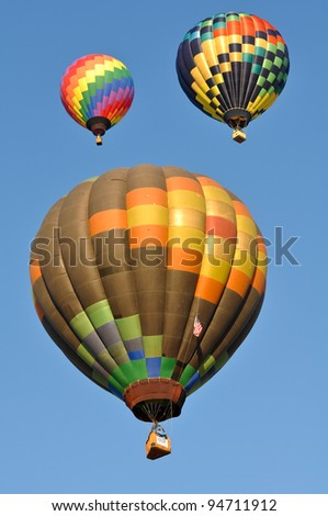 RENO, NEVADA - SEPTEMBER 10: The Great Reno Balloon Race on September 10, 2011, in Reno Nevada. It is the largest free hot air ballooning event in the nation.