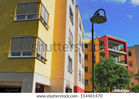 renovated houses - stock photo