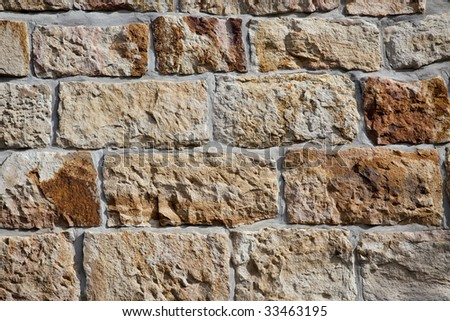 renovated sandstone wall