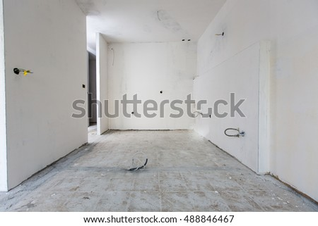 Renovation of an apartment.