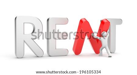 Rent metaphor - stock photo