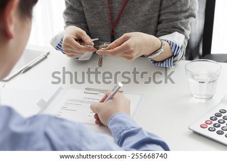 Rental agreement - stock photo