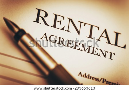 Rental Agreement Fountain Pen Ready Sign Stock Photo Royalty Free
