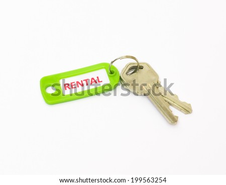 Rental tag with keys - stock photo