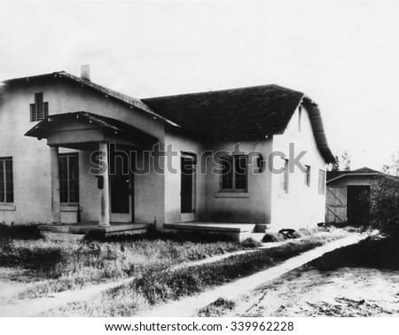 Rented home where Hedwig Samuelson and Agnes LeRoi were murdered in 1931. The Phoenix Trunk Murders victims worked as hospital attendants. Winnie Ruth Judd, a Los Angeles doctor's wife, was convicted - stock photo