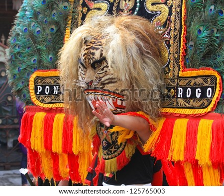 Reog ponorogo indonesia traditional dance stock photo edit now reog ponorogo indonesia traditional dance thecheapjerseys Gallery