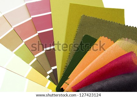 repair and decoration color samples planning - stock photo