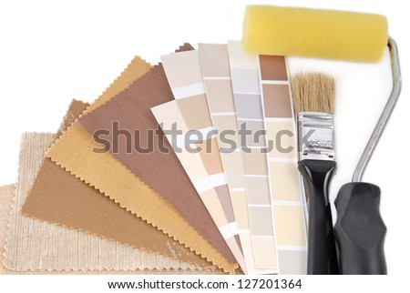 repair and decoration planning - stock photo