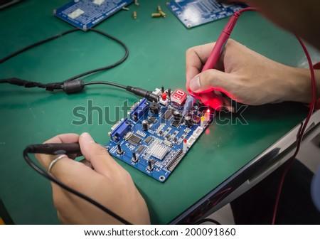 Repair electronic metering parameters - stock photo