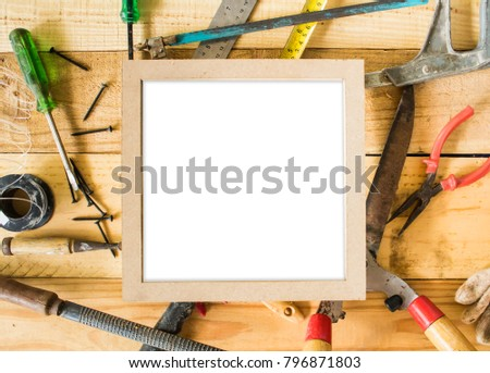 Repair Equipment Tools Placed On Table Stock Photo Royalty Free