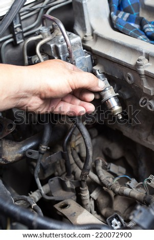 repair of motor cars, cleaning nozzles