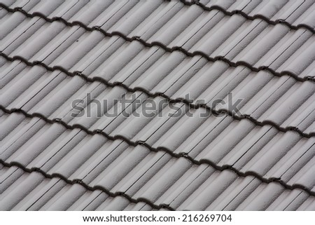 repeat pattern of building roof tiles