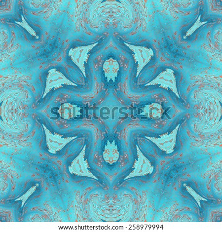 Repeating abstract artistic blue pattern for design - stock photo