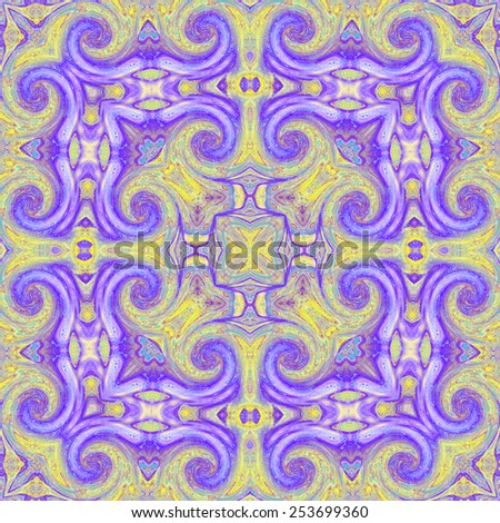 Repeating abstract artistic colorful pattern - stock photo