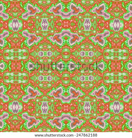 Repeating abstract kaleidoscopic colourful ornament for background