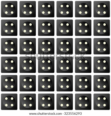 Repeating Dice pattern as a wallpaper effect