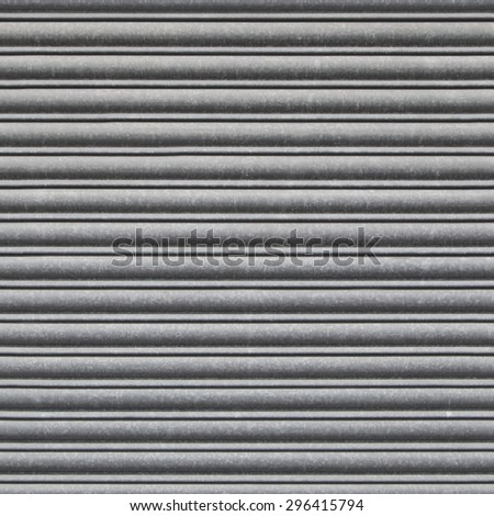 Repeating Metal Shutter Background. Tileable wallpaper background that repeats left, right, up and down - stock photo