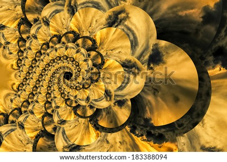 Repeating pattern made by twisting the shapes of splashing water - stock photo