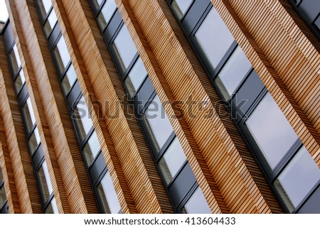 Repeating patterns, architectural details and geometric constructions. Residential buildings.
