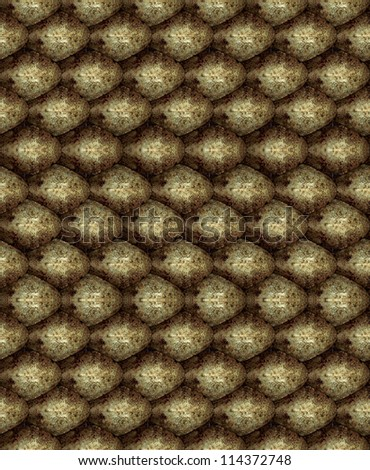 repeating seamless texture snake skin tiling bump - stock photo