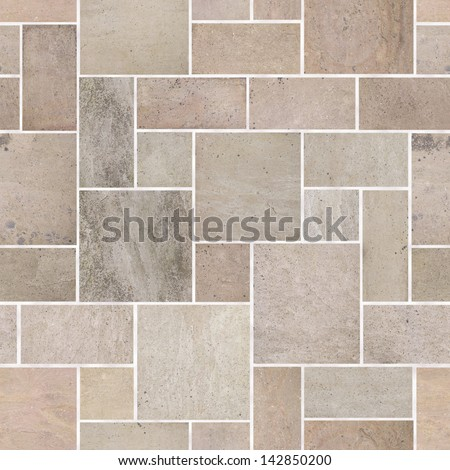 Repeating tileable wallpaper pavers background. Continuous pattern left, right, up and down - stock photo