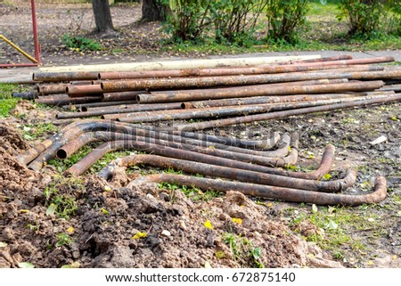 Replacement of old water pipes