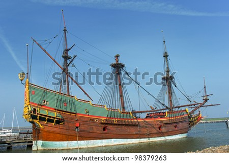 Replica of a old Dutch galleon the VOC Batavia