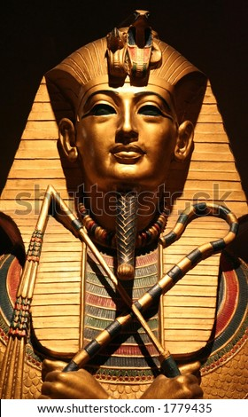 Replica of King Tut's Death Mask - stock photo