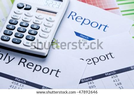 Report - stock photo