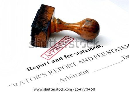 Report and fee statement - stock photo