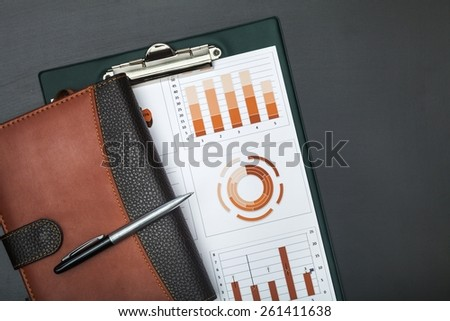 Report, annual, market. - stock photo