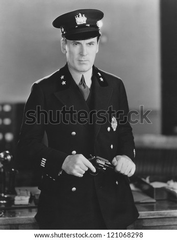 Reporting for duty - stock photo